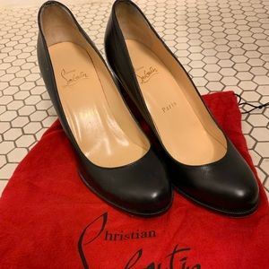Authentic Christian Louboutin Chunky Heel Pumps